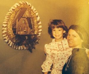 mom and me at christmas