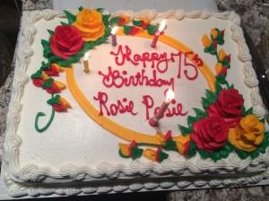 Mom's 75th cake
